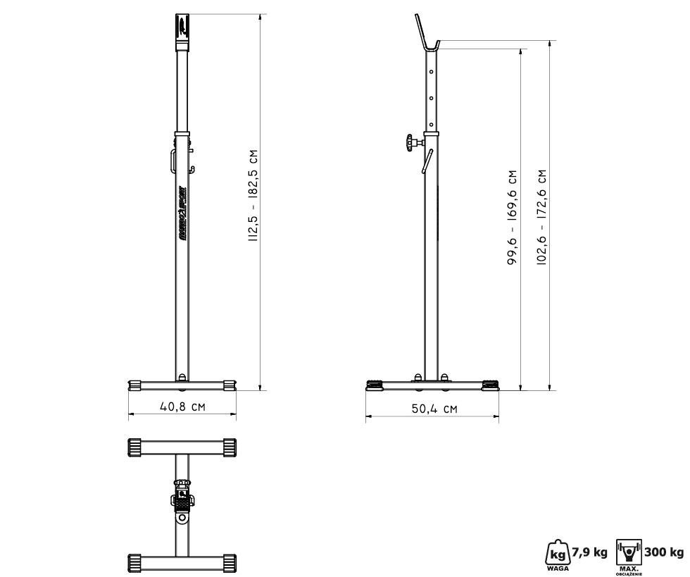 stojaki pod sztangę MS-S101 - Marbo Sport