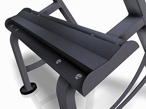 Zestaw hantli stalowych gumowanych 5-50 kg ze stojakiem L MP-HSGk5-L-k1 - Marbo Sport
