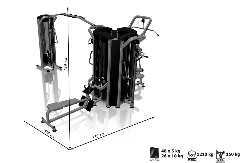 Wieża 6-stanowiskowa MIDI  - Marbo Sport