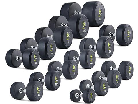 Zestaw hantli gumowanych HQ 5-40 kg - Marbo Sport