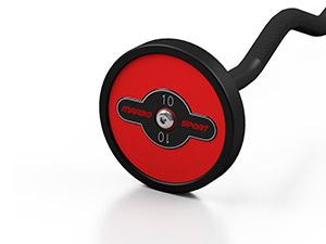gummierte SZ-Stange 10 kg rote Glanz - Marbo Sport