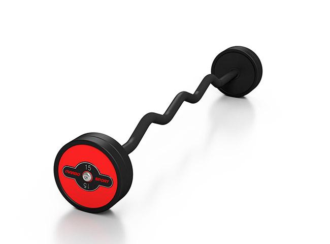 gummierte SZ-Stange 15 kg rote Glanz - Marbo Sport