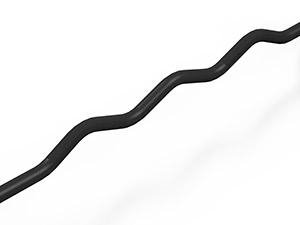 gummierte SZ-Stange 25 kg schwarze Glanz - Marbo Sport
