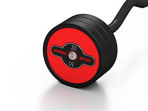 gummierte SZ-Stange 30 kg rote Glanz - Marbo Sport