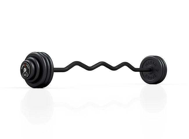 Sztanga stała łamana 45 kg - Marbo Sport