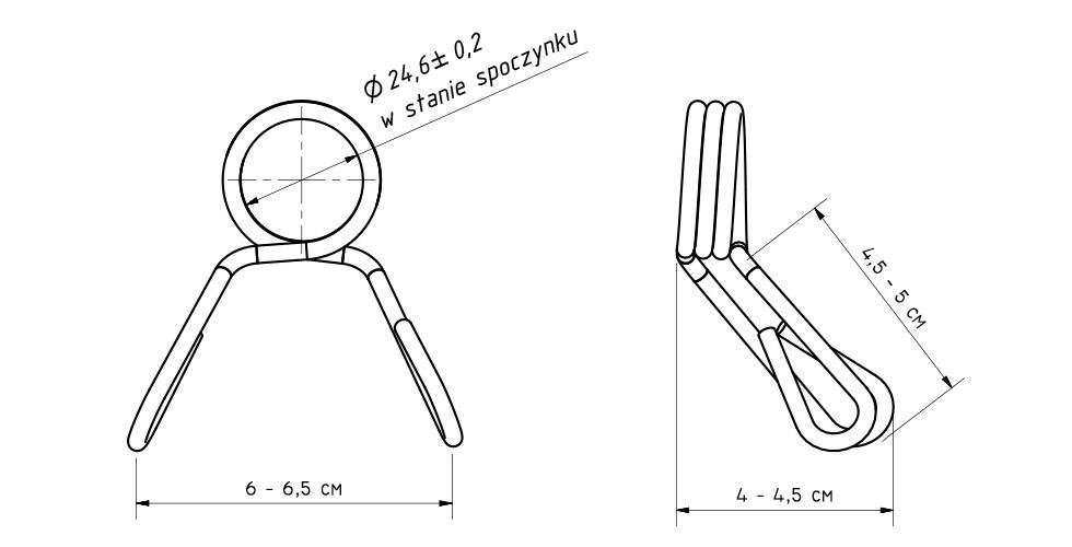 Zacisk sprężynowy na pręt fi25 mm - Marbo Sport