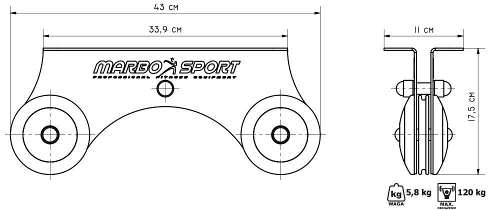 Wyciąg górny do sufitu - Marbo Sport