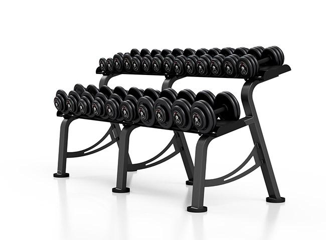Zestaw hantli stałych 4-26 kg ze stojakiem S - Marbo Sport