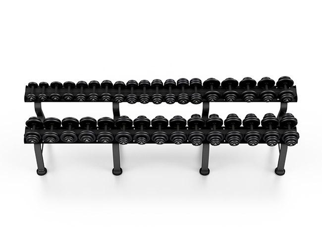 Zestaw hantli stałych 4-36 kg ze stojakiem M - Marbo Sport