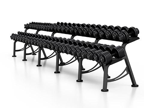 Zestaw hantli stałych 4-56 kg ze stojakiem XL - Marbo Sport