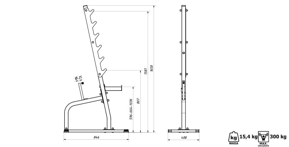 Stojaki wielopoziomowe (2 sztuki) MS-S105 - Marbo Sport