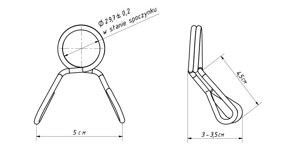 Federklemme für Griff fi30 mm MA-Z006