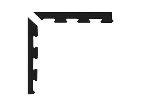 Narożniki do maty puzzle 10 mm czarne - Marbo Sport