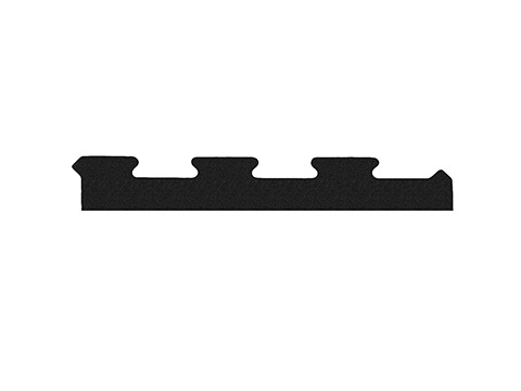 Bok do podłogi pod wolne ciężary puzzle 10 mm czarny - Marbo Sport