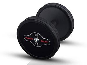 Zestaw hantli stalowych gumowanych 5-17,5 kg ze stojakiem S MP-HSGk4-S-k1 - Marbo Sport