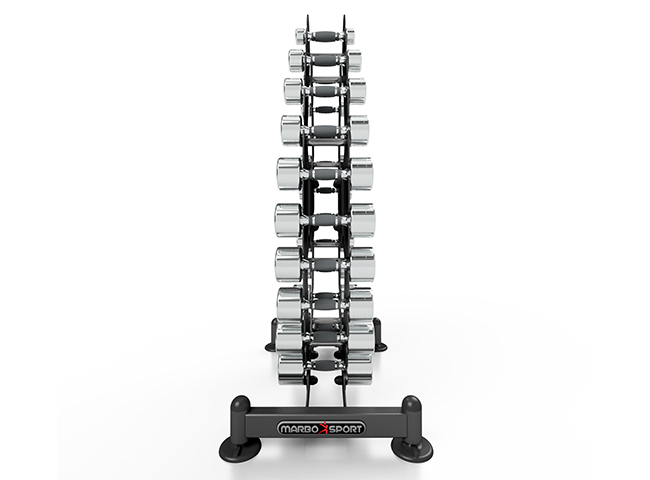 Zestaw hantli chromowanych ze stojakiem 1-10kg - Marbo Sport