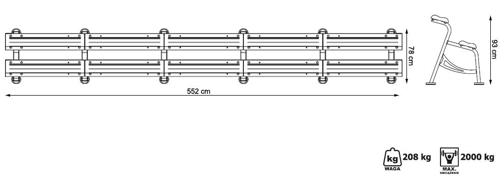 Stojak modułowy na hantle - Marbo Sport