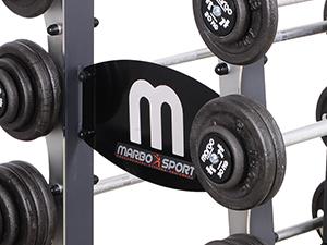 Stojak z gryfami stałymi 10-55 kg - Marbo Sport