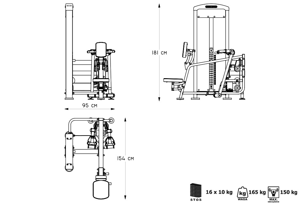 Maszyna na plecy - Marbo Sport